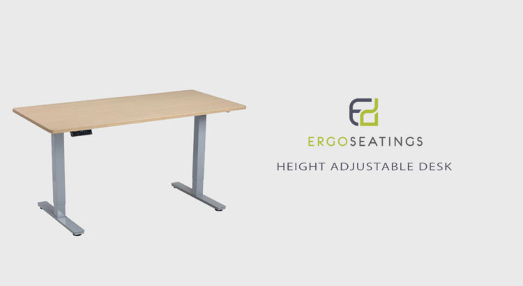 Height adjustable desk ergo